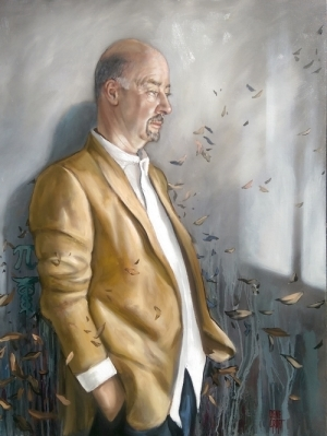 Pensive Man - Contemporary Oil Painting Art