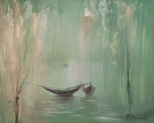 Quiet Morning - Contemporary Oil Painting Art