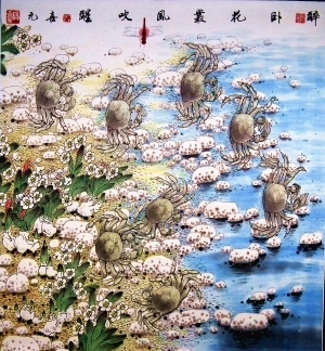 Contemporary Artwork by Yang Xiyuan - A Drunken Slumber among Flowers and Breeze