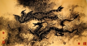 Contemporary Artwork by Yang Xiyuan - Dragon and Phoenix