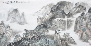 Contemporary Artwork by Liu Yuzhu - Among Green Mountain
