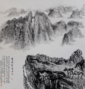 Contemporary Artwork by Liu Yuzhu - The Holy Landscape