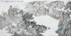 Contemporary Artwork by Liu Yuzhu - Luck and Longevity in the Spring