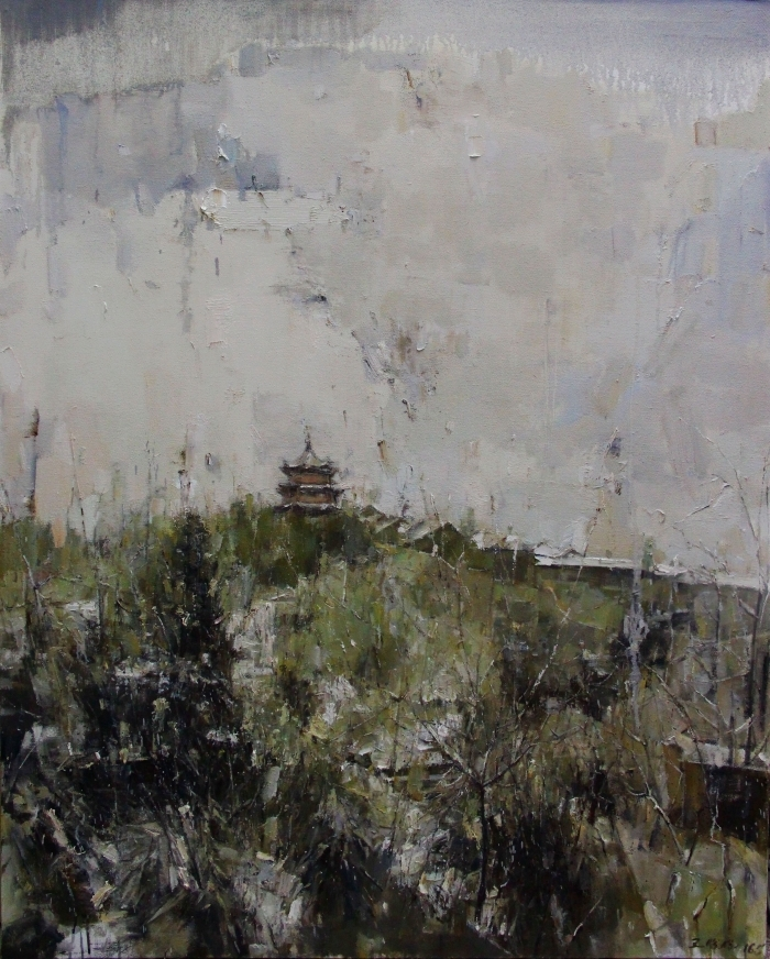 Wang Panpan's Contemporary Oil Painting - Memories in Xiling Mount