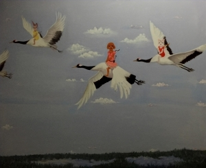 Contemporary Artwork by Li Tongfa - Forest Peace Conference Series - Sweep Past The Sky