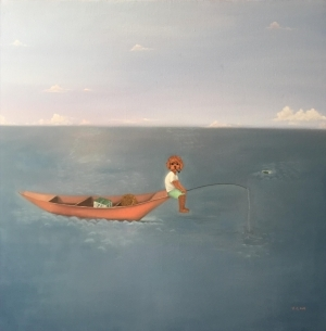 Contemporary Artwork by Li Tongfa - Fishing