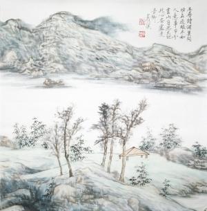 Chinese Doufang Landscape - Contemporary Chinese Painting Art