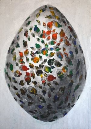 Contemporary Artwork by E-Moderne Gallerie - White Egg