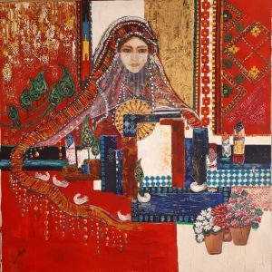 Contemporary Oil Painting - Iranian Girl