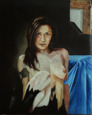 Contemporary Oil Painting - Dark Portrait 3