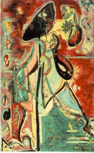 Moon Woman - Contemporary Various Paintings Art