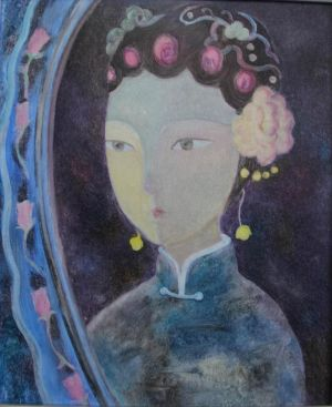 Contemporary Artwork by Chen Yuxiao - A Maid in An Imperial Palace