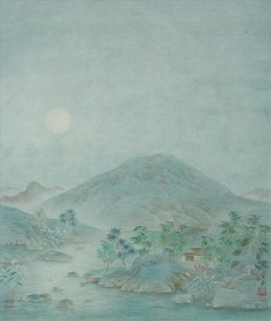 Cold Moonlight - Contemporary Chinese Painting Art