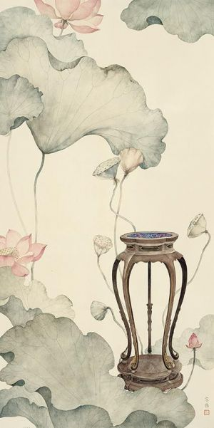 Painting of Flowers and Birds in Traditional Chinese Style 4 - Contemporary Chinese Painting Art