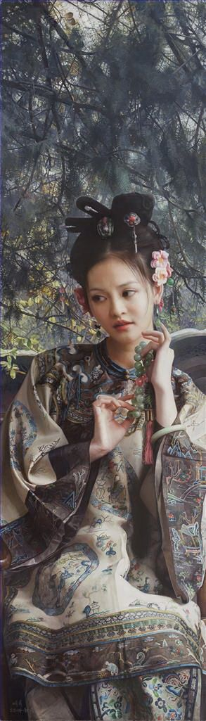 Contemporary Oil Painting - A Beauty in Nanjing 2