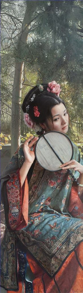 Contemporary Oil Painting - A Beauty in Nanjing