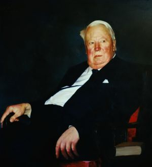 Contemporary Oil Painting - A Portrait of The Late British Prime Minister Sir Edward Heath