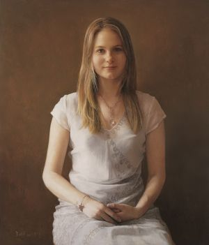 Contemporary Oil Painting - Daughter of New Zealand Ambassador Sofia