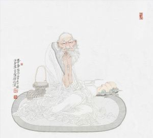 Practice Meditation - Contemporary Chinese Painting Art