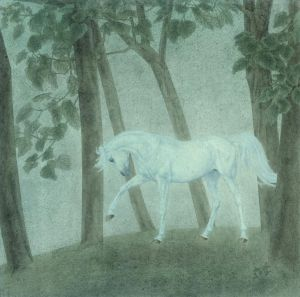 Horse Traditional Chinese Painting Fine Brushwork 2 - Contemporary Chinese Painting Art