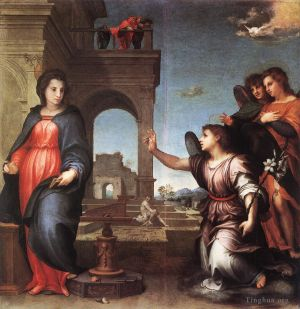 Antique Oil Painting - The Annunciation