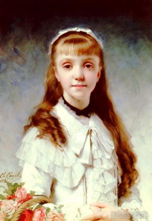 Antique Oil Painting - Sweet Innocence