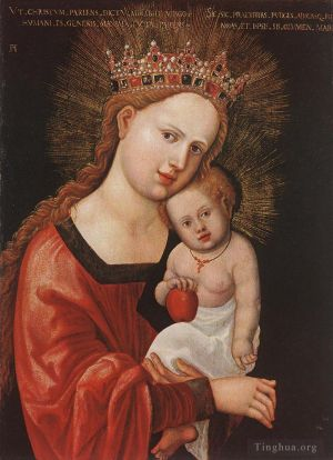 Antique Oil Painting - Mary With The Child