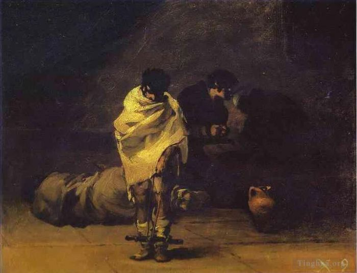 Francisco Goya Oil Painting - Prison Scene