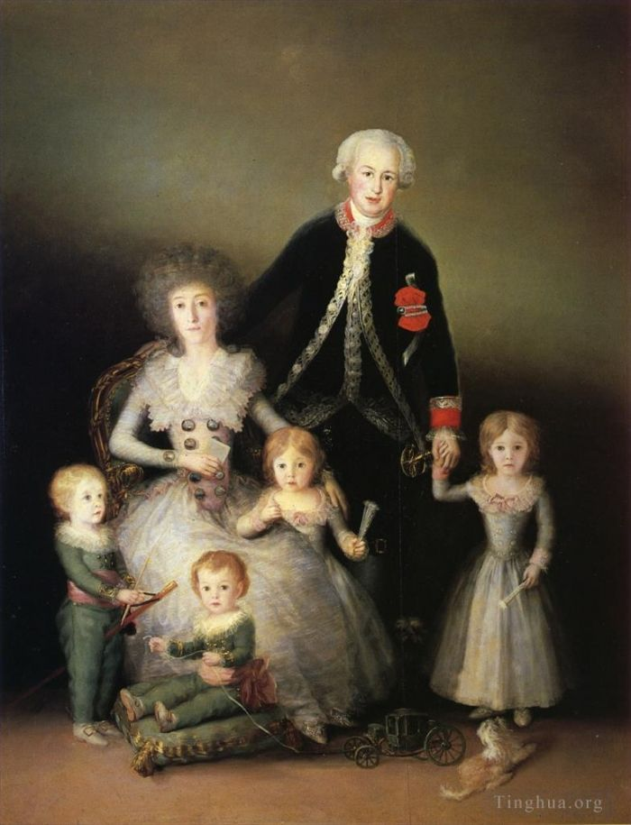 Francisco Goya Oil Painting - The Duke of Osuna and his Family