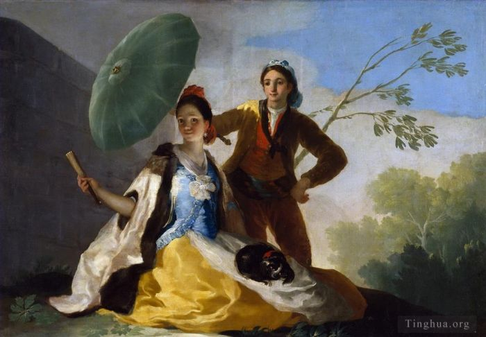 Francisco Goya Oil Painting - The Parasol
