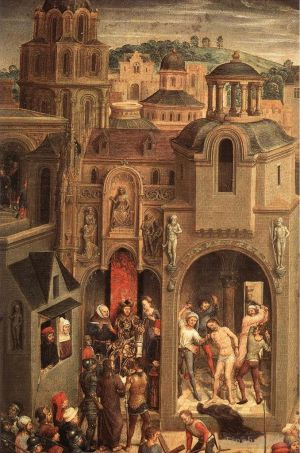 Antique Oil Painting - Scenes from the Passion of Christ 1470detail4