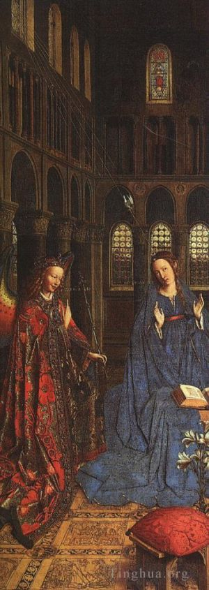 Antique Oil Painting - The Annunciation 1435