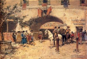 Artist Jose Benlliure y Gil's Work - Entering The Arena