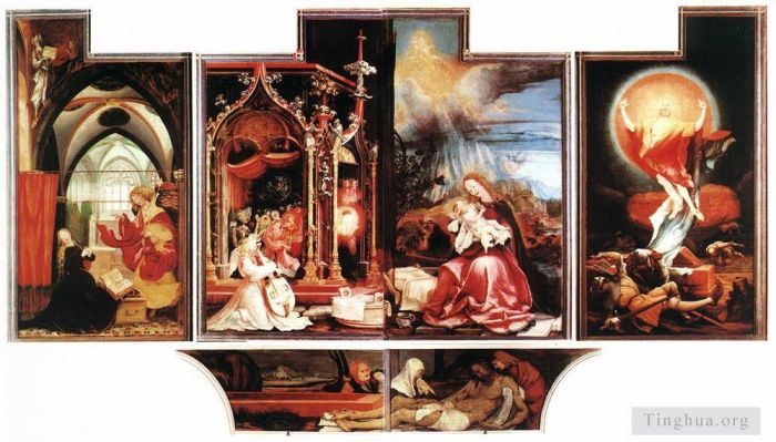 Matthias Grunewald Oil Painting - Isenheim Altarpiece second view