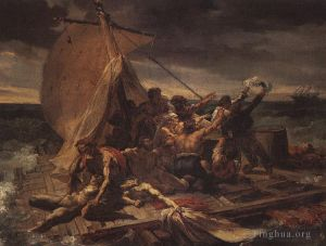 Antique Oil Painting - Study for Raft of the medusa MHA