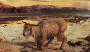 Antique Oil Painting - The Scapegoat